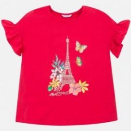 Tričko s krátkým rukávem pro dívky Mayoral 6013-28 červená