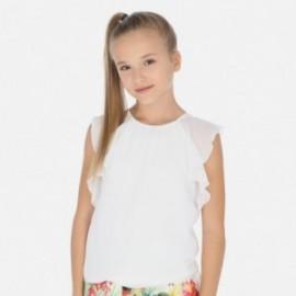 Tričko s volánkami holčičí Mayoral 6014-77 bílá