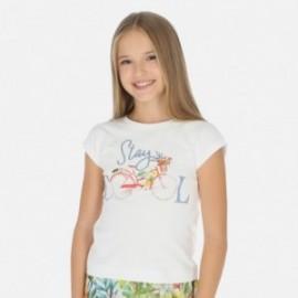 Tričko sportovní pro dívku Mayoral 6015-77 bílá
