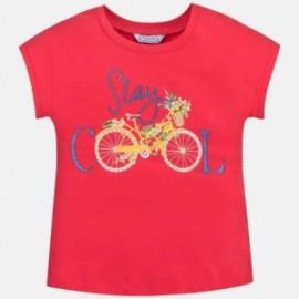 Tričko sportovní pro dívku Mayoral 6015-79 červená