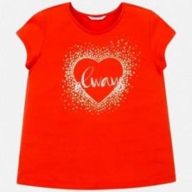 Tričko s krátkým rukávem pro dívky Mayoral 6017-67 oranžový