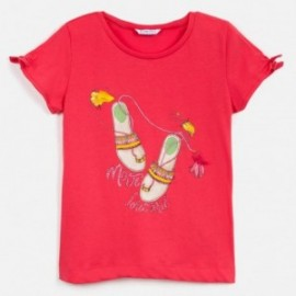 Tričko s krátkým rukávem pro dívky Mayoral 6018-28 červená