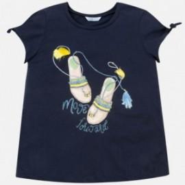 Tričko s krátkým rukávem pro dívky Mayoral 6018-29 granát