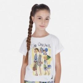 Mayoral 6020-14 Tričko s krátkým rukávem pro dívky Bílo-žlutý