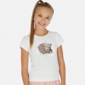 Tričko s flitry pro dívku Mayoral 6022-44 smetanový