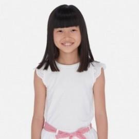 KTričko s výšivkou pro dívku Mayoral 6030-52 bílá