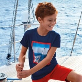Tričko sportovní chlapci Mayoral 6055-65 granát