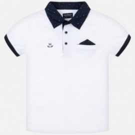 Tričko pólo pre chlapca Mayoral 6136-78 biela