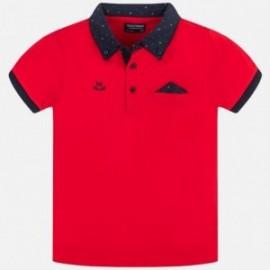 Tričko pólo pre chlapca Mayoral 6136-79 červená