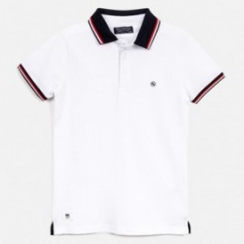 tričko pólo pre chlapca Mayoral 6143-80 biela