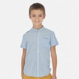 košele na stojane pre chlapca Mayoral 6148-23 modrý