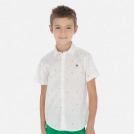 Košile s krátkým rukávem pro chlapce Mayoral 6152-53 Bílá