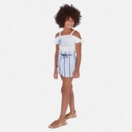 Krátké kalhoty pruhované dívky Mayoral 6256-19 Modrá