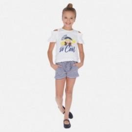 Sada tričko a šortky pro dívky Mayoral 6259-92 granát