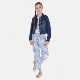 Kalhoty pruhované dívky Mayoral 6534-19 modrý