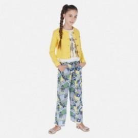 Kalhoty ve vzorech dívčí Mayoral 6535-10 modrý