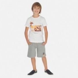 Sada tričko a bermudy chlapecký Mayoral 6612-38 šedá