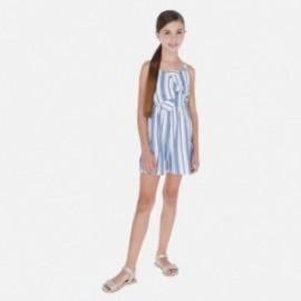 Kombinéza s pruhy pro dívky Mayoral 6813-19 modrý