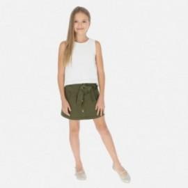 Sukně s knoflíky pro dívku Mayoral 6950-19 zelená