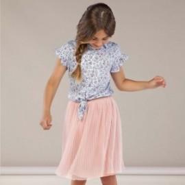 Plisovaná sukně pro dívky Mayoral 6951-79 Prášek růžový