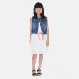 Sukně vyšívané dívčí Mayoral 6953-15 bílá