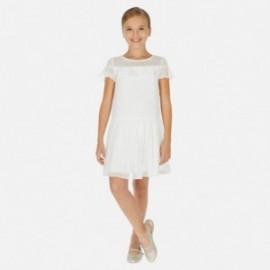 Elegantní šaty pro dívky Mayoral 6976-37 bílá