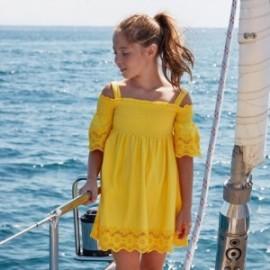 Saty na popruhy holčičí Mayoral 6980-92 žlutý