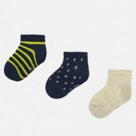 Sada 3 párů chlapeckých ponožek Mayoral 10734-48 granát
