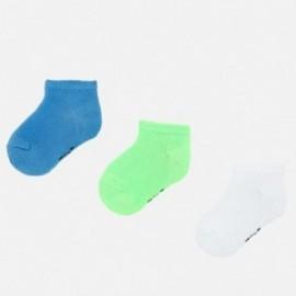 Sada 3 párů ponožek pro chlapce Mayoral 10735-54 zelená