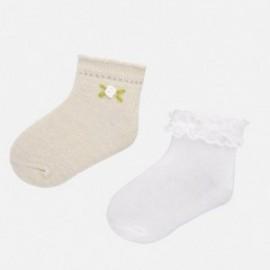 Sada 2 párů ponožek pro dívky Mayoral 10738-77 béžová