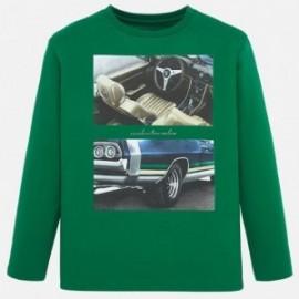 Bavlněné tričko pro chlapce Mayoral 7021-16 zelené