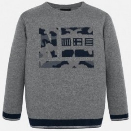 Elegantní svetr pro chlapce Mayoral 7313-30 Popiel