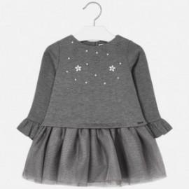 Kombinované šaty pro dívku Mayoral 4934-25 šedá
