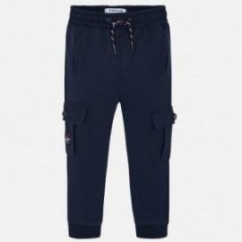Pletené kalhoty pro chlapce Mayoral 4525-41 granát