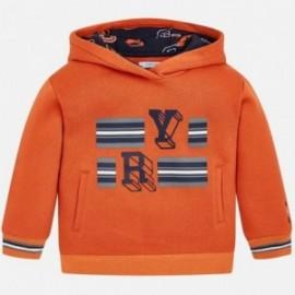 Svetr s kapucí pro chlapce Mayoral 4430-48 oranžová