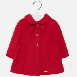 Elegantní fleecový kabát pro dívku Mayoral 2428-86 červená