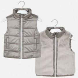 Oboustranná vesta pro dívku Mayoral 4308-60 stříbrná