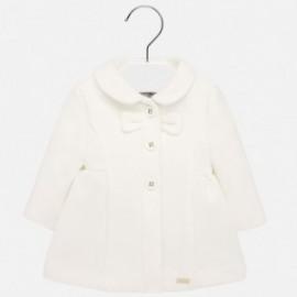 Elegantní fleecový kabát pro dívku Mayoral 2428-89 krém