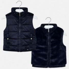 Oboustranná vesta pro dívku Mayoral 4308-62 tmavě modrá