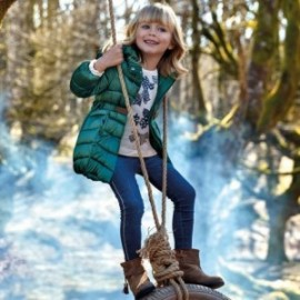 Dlouhé kalhoty s pruhy pro dívky Mayoral 4505-71 granát