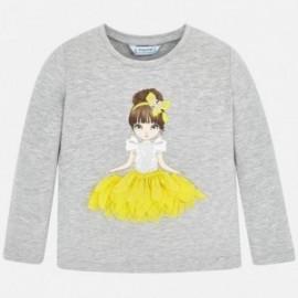 Petal tričko pro dívky Mayoral 4008-45 šedá