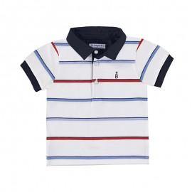 Koszulka polo k/r paski chłopiec Mayoral 1151-77 Hibiskus