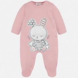 Bavlněné pyžamo pro dívky Mayoral 2709-30 pink