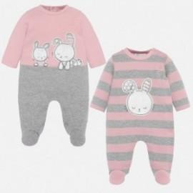 Sada 2 pyžam pro dívky Mayoral 2710-30 růžová
