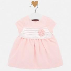 Tylové šaty pro dívku Mayoral 2816-64 růžová
