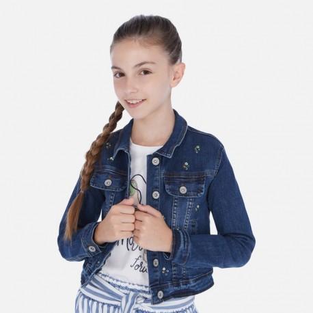 Jeansová bunda holčičí Mayoral 6461-44 granát
