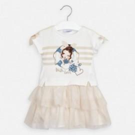 Šaty pro dívky Mayoral 3958-44 Béžová