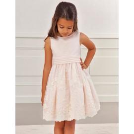 Společenské šaty pro dívky Abel & Lula 5024-37 losos