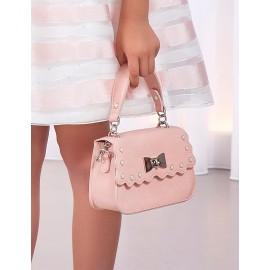 Elegantní ekologická kožená kabelka pro dívku Abel & Lula 5435-70 růžová