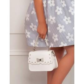Elegantní ekologická kožená kabelka pro dívku Abel & Lula 5435-71 bílá